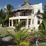 ocean-facing side of house