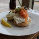 lovely salmon and ricotta toasted muffins