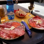 great plate of meat and cheese
