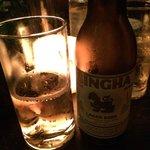 Uma das cervejas chinesas do cardápio