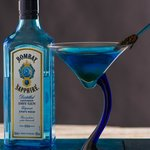 Fig and Blue Martini