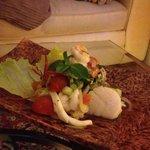 Spicey seafood salad