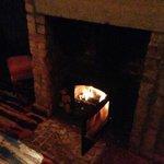 log fires cozy…….