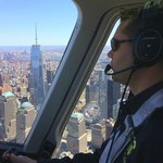 Zip guide James Hershman flying past One World Trade Center