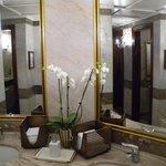 Ochids in the bathroom