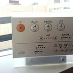 Remote control panel of toilet