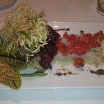 Steak tartar de bacallà