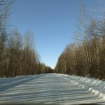 Road to Talkeetna in Mar 2014