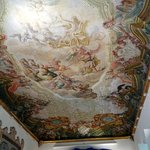 The magnificent ceiling in the Dinning room