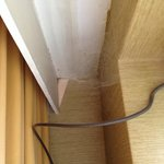 Cobwebs behind the curtains