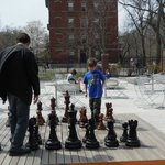 Father & Son playing chess