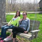 Swinging outside at Sleepy Creek!