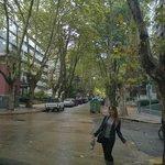 Ruas de Pocitos, próximo ao hotel