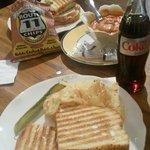 Delicious panini sandwiches and soup!