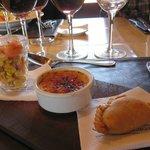 Apps @ Finca Decero, lunch w/Trout & WIne