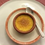 Complimentary creme brulee.