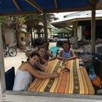Con la familia donde Francesca