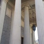 Impressive exterior, with neo-classic columns