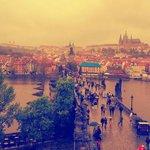 Praga vista desde una de las torres del Puerte Carlos