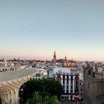 Una de las vistas desde las 'setas' de Sevilla.