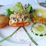 Delicious crab entrée!