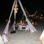 Beach fine dining