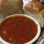 Conch chowder and Bimini Bread.