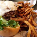 The Gabby burger and fries