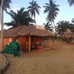 Little shops on the beach