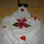 Surprise towel art from our butlers