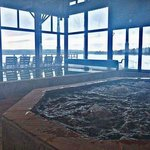 Indoor sauna rooms, jacuzzi, heated pools