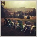 Lawn overlooking Mt Washington
