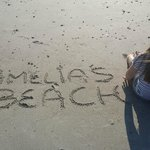 My Daughter Amelia on Amelia Beach