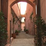 Alleyway off the street leading to Riad