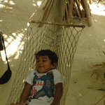 My son Fiam on the hammock