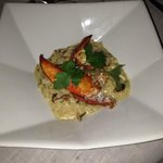 Main course - wild mushroom risotto with lobster