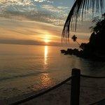 Sunset from seaside bar