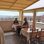 Breakfast terrace on the top floor.