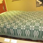 Geometric and green, one of my favorite coverlets.