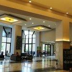 The spacious foyer