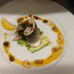 poached sea bass fillet