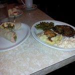 Lunch special (left) with soup & dinner special (right) w/extras, great food, great prices, grea