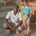 Ahmed at the Pool with Daughter