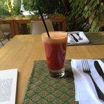Fresh juice on the patio