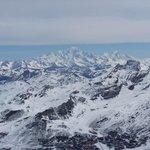 vue sur le Mont Blanc depuis la Cime Carron