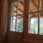 la finestra che da sulla terrazza