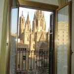 View of Barcelona Cathedral from our room