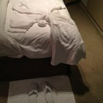 Bath robes and slippers on arrival