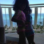 my two princesses just as beautiful as the view