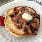 Buttermilk blueberry pancakes!